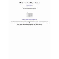 The conversational hypnosis code tips