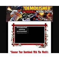 The demolisher sports betting system by author of the #1 system step by step