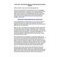 The dirty talk handbook how to drive your partner wild does it work?
