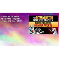 Best the exterminator sports betting system by author of the #1 system