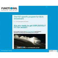 Cash back for the functional sports training specific program for ski & snowboard