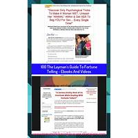 The layman's guide to fortune telling ebooks and videos secret code
