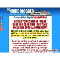 Buy the niche blog pack 299 niche plr wordpress blogs with content