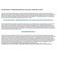 The panic puzzle help people end panic and anxiety attacks! promotional codes