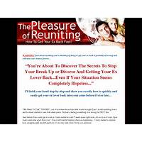 The pleasure of reuniting (get your ex back specials