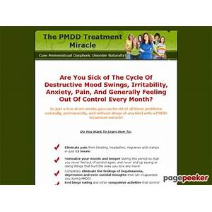 The pmdd treatment miracle cure premenstrual dysphoric disorder naturally! secret codes