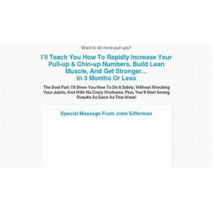 The pull up solution by john sifferman programs