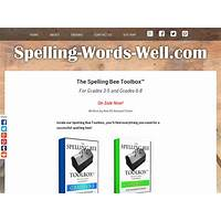 The spelling bee toolbox tm immediately