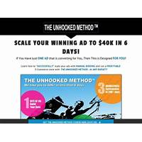 Cash back for the unhooked method manual bidding case study for facebook ads