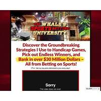 The whale s sports betting university weekly recurring membership promo