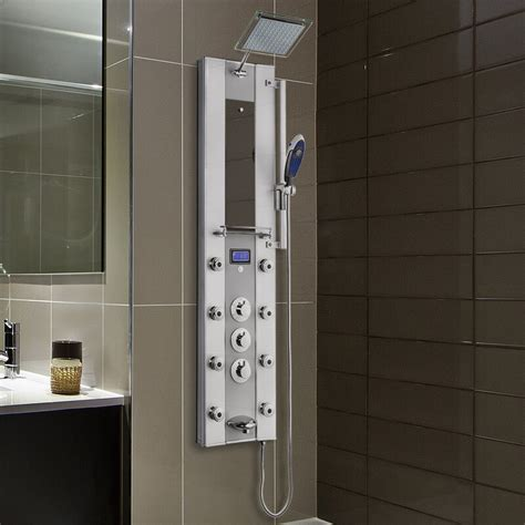 Thermostatic Tower Rainfall Shower Panel - Includes Rough-In Valve