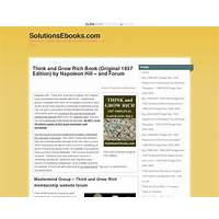 Think & grow rich (original 1937) ebook & forum membership website guide