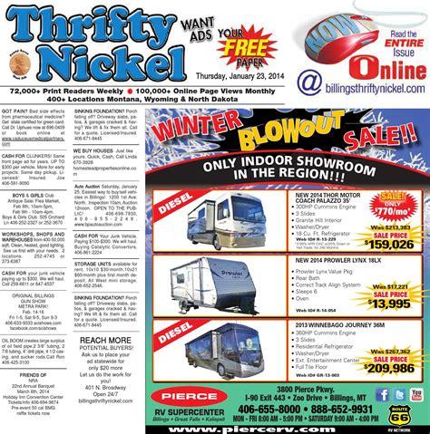 Thrifty Nickel Jan 23 By Billings Gazette - Issuu