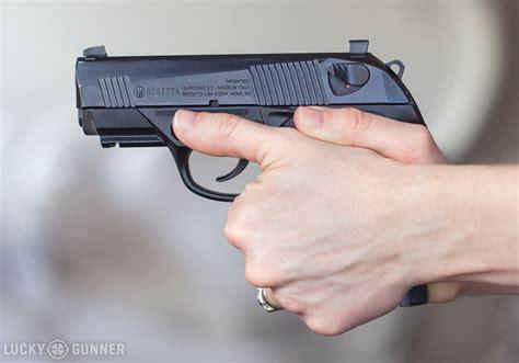 Thumbs Forward Handgun Grip