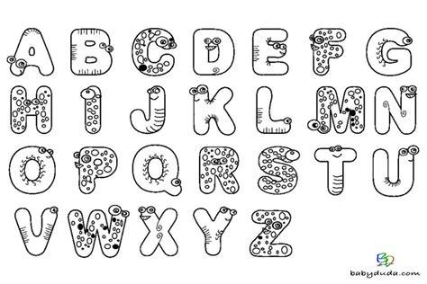 Tierbuchstaben Malvorlagen