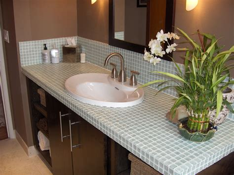 Tile Bathroom Countertops