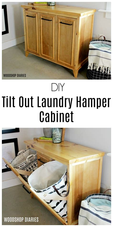 tilt out hamper cabinet plans