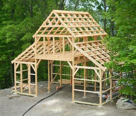 Timber frame barn plans Image