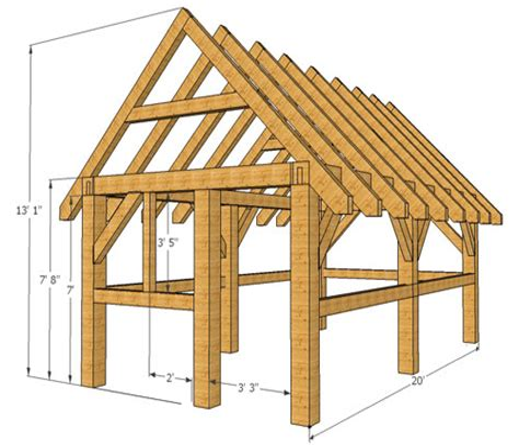 Timber frame barn plans free Image