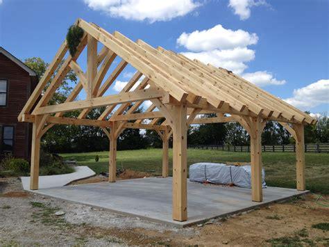Timber frame carport design Image