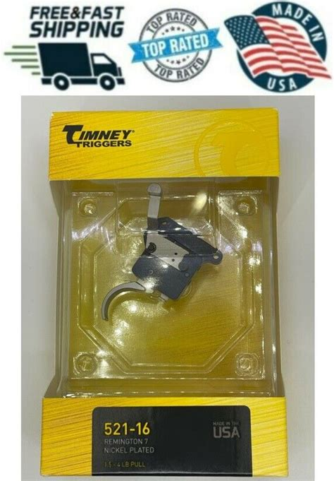 Timney 521 Triggers For Remington Model 7 W Safety Nickel