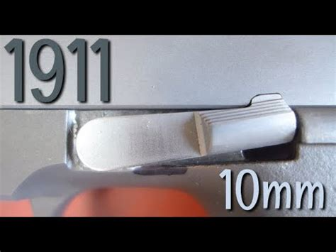 Titanium 10mm Hicapacity 1911 Build 7 Slide Stop Fitting