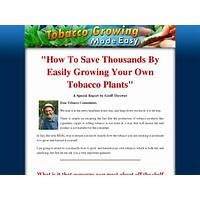 Tobacco growing made easy brand new product in hot niche: tobacco! promotional codes