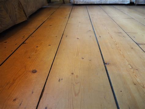 Tongue groove floorboards Image