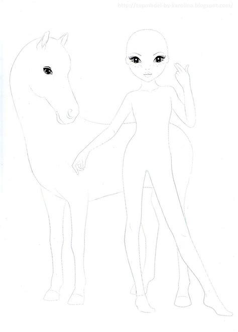 Topmodel Ausmalbilder Mit Pferd