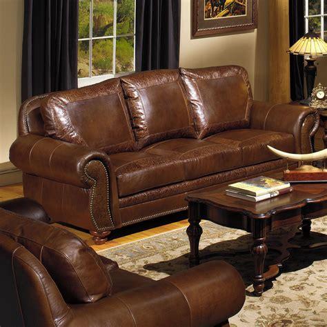 Traditional Leather Sofa Set