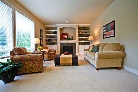 Traditional Living Room With Tv