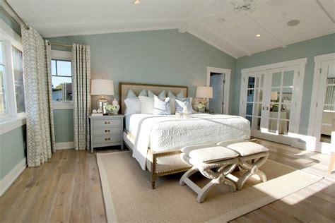 Traditional Master Bedroom Blue