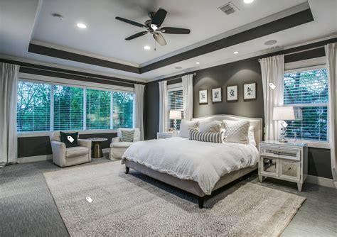 Traditional Master Bedroom Grey