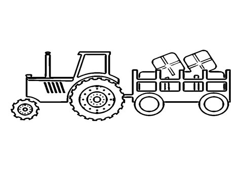Traktor Mit Anhänger Malvorlage