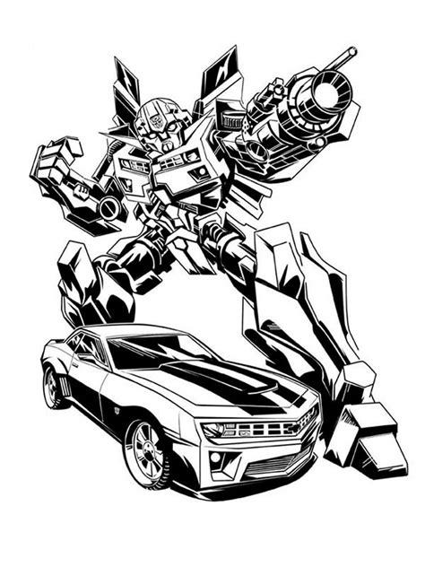 Transformers Bumblebee Malvorlage