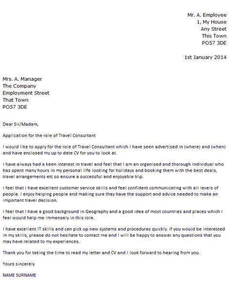 Travel Consultant Resume Cover Letter   Covering Letter ...
