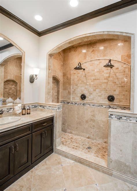 Travertine Tile Bathroom