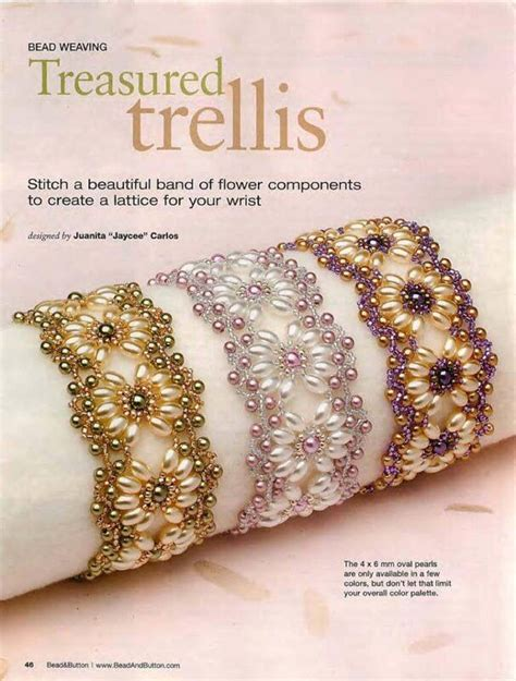 Treasured trellis bracelet pattern Image