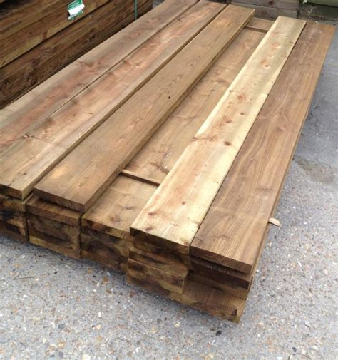 Treated wooden boards Image