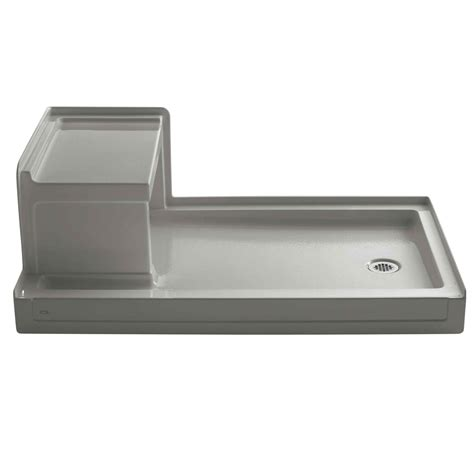 "Tresham 60"" x 36"" Single Threshold Left-Hand Drain Shower Base with Integral Right-Hand Seat"