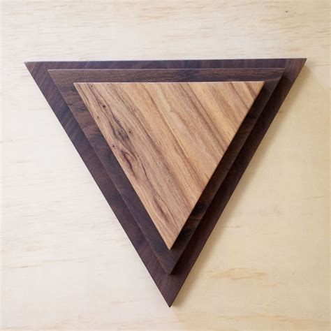triangle wood cutting board