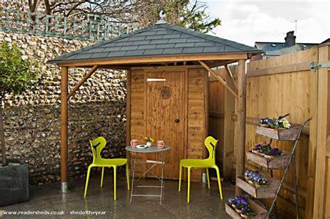 Triangular garden shed Image