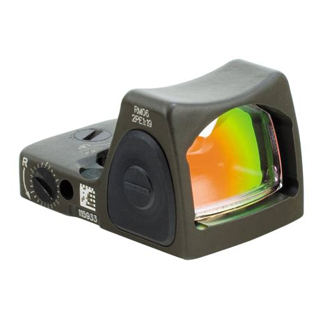 Trijicon Rmr Adjustable Red Dot Sight W Moa Dot Reticle