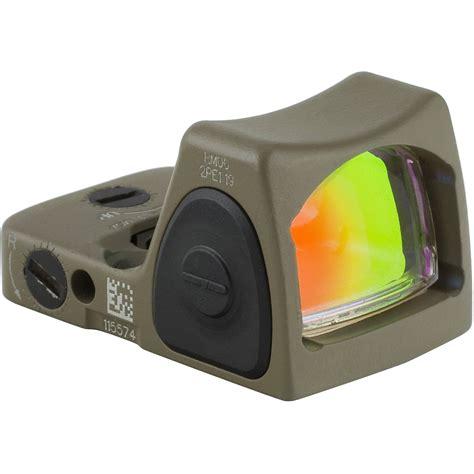 Trijicon Rmr Type 2 Rm07 65 Moa Adjustable Led Reflex Sight Rmr Type 2 65 Moa Adj Red Dot Led Sight Flat Dark Earth