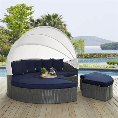 Tripp Patio Daybed with Sunbrella Cushions