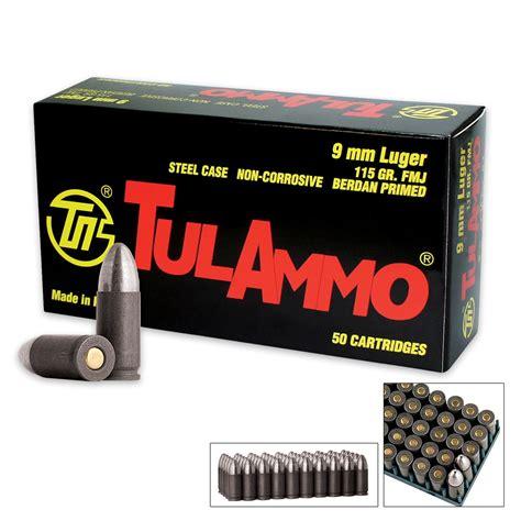 Tulammo 9mm Ammo Steel Bullet Material
