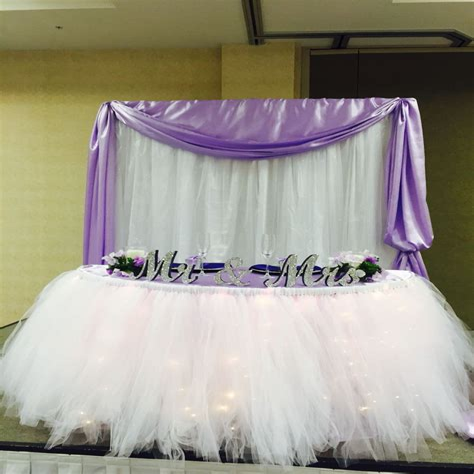 Tulle table skirt diy Image