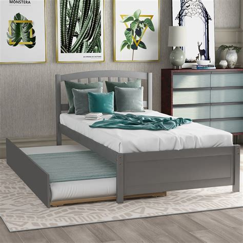 Twin Bed Frame With Trundle