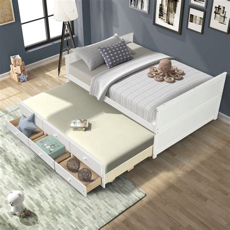 twin bed with drawers plans.aspx Image