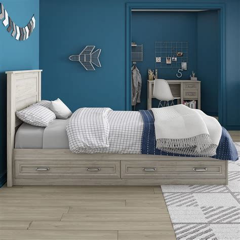 Twin Bed With Storage And Headboard
